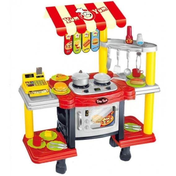 Высокий игровой набор Кафе с кассой, продуктами и посудой