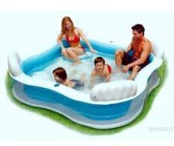Надувной бассейн Семейный Intex 229х229х66 см