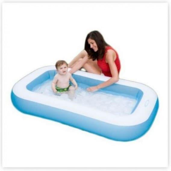 Надувной бассейн Комфорт Intex 166х100х28 см