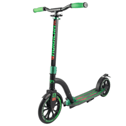Самокат Huracan черно-зеленый