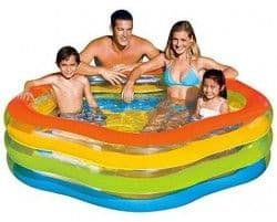Надувной бассейн Цветное Лето Intex 185х180х53 см