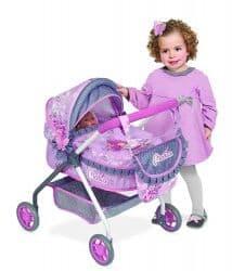 Коляска для кукол Мария с сумкой 56 см