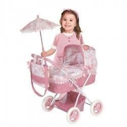 Коляска для кукол Даниэла с зонтиком и сумкой 65 см