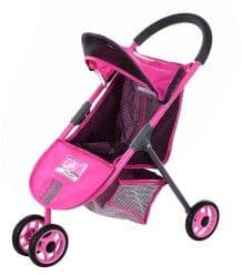 Прогулочная коляска для кукол City Max розовая 56 см