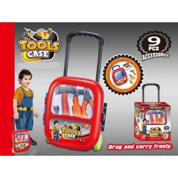 Набор инструментов в чемодане на колесах, 9 предметов