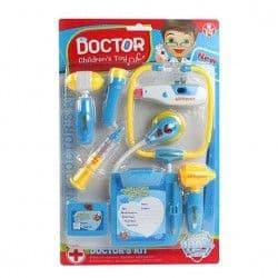 Набор Доктор 8 предметов, синий, свет, звук, блистер