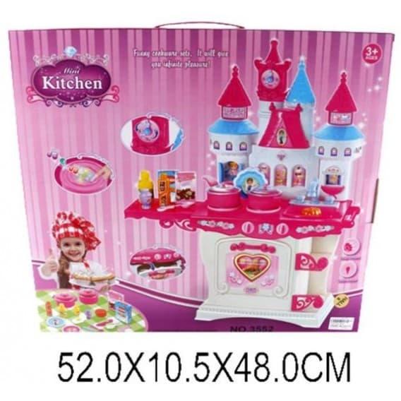 Набор кухня с посудой и продуктами Замок, свет, звук
