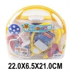 Набор доктора желтый, 10 предметов в чемоданчике