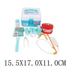 Чемоданчик стоматолога, 13 предметов, голубой
