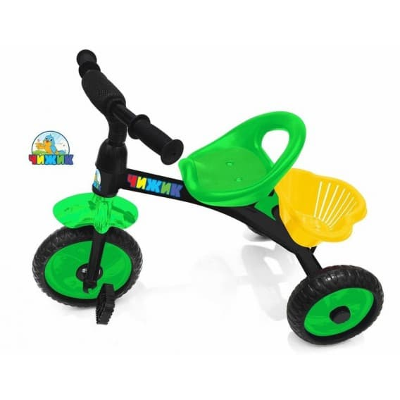 Трехколесный детский велосипед Чижик с багажной корзинкой