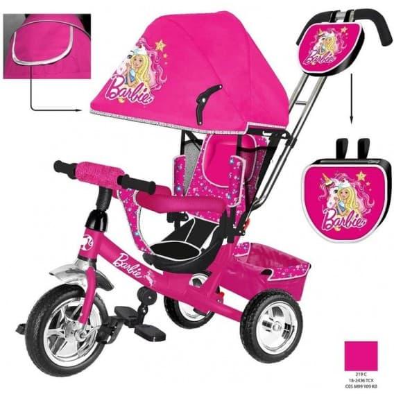 """Трехколесный велосипед Barbie HB7 new 2018 с надувными колёсами 10""""/8"""""""