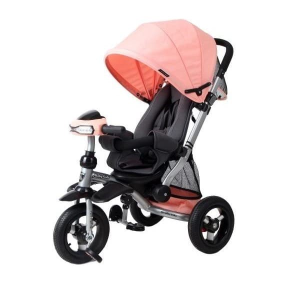 3-колесный велосипед Moby Kids Stroller trike 10x10 AIR Car персиковый