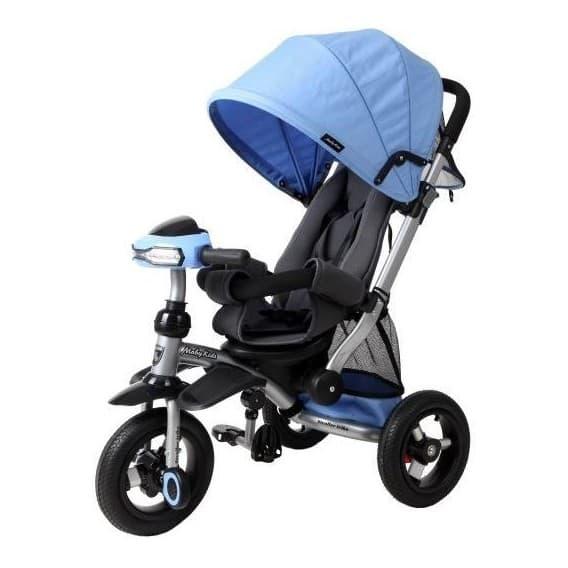 Трехколесный велосипед Moby Kids Stroller trike 10x10 AIR Car синий