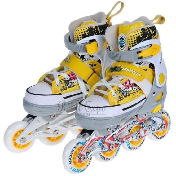 Раздвижные роликовые коньки Lego Yellow