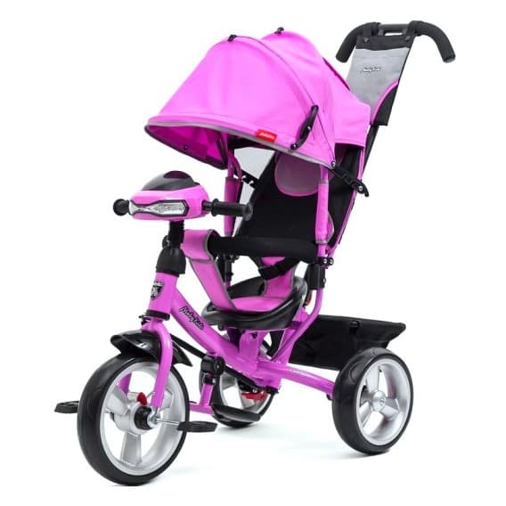 Велосипед Moby Kids Comfort 12/10 с фарой фиолетовый