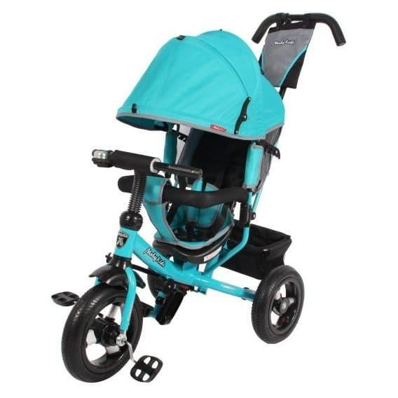 Трехколесный велосипед Moby Kids Comfort AIR 12х10 бирюзовый