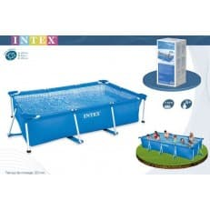 Каркасный бассейн Rectangular Frame Pool Intex 450х220х85 см
