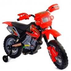 Мотоцикл на аккумуляторе (1х6V, 4,5Ah), пластиковые колеса, цвет: красный, в/к 102*53*66 см