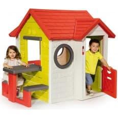 Игровой детский домик Smoby со столиком и музыкальной панелью