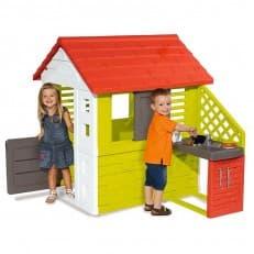Игровой Smoby домик с кухней красный