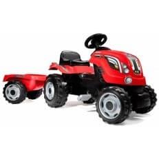 Трактор педальный Smoby XL с прицепом красный