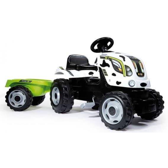 Трактор педальный Smoby XL с прицепом пятнистый