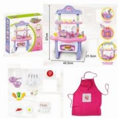 Кухня Как у мамы розовая M7115-4 с водой