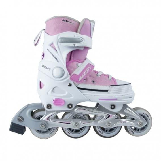 Раздвижные роликовые коньки Smart Pink
