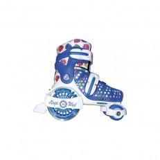 Раздвижные роликовые коньки Magic Wheel Blue