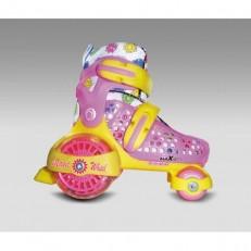 Раздвижные роликовые коньки Magic Wheel Pink