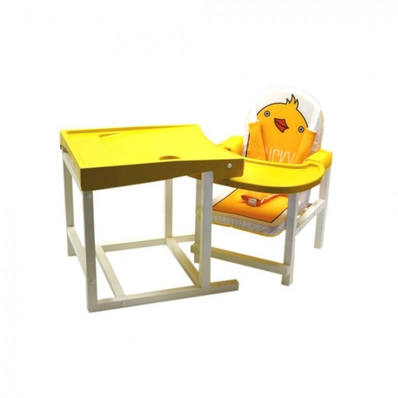 Стол-стул для кормления Babys Ducky желтый