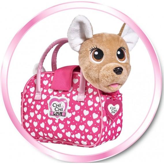 Мягкая игрушка Чи Чи Лав Счастливчик, с сумочкой (звук, движение) 20 см