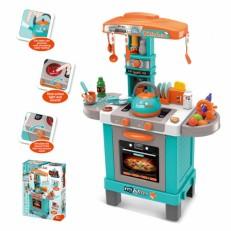 Игровая кухня Повар с эффектом пара, светом и звуком, в компл.стойка + 31 аксесс.