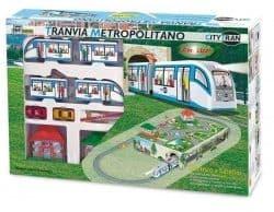 """Железная дорога """"Городской поезд"""" c подземным туннелем, городом и светом"""