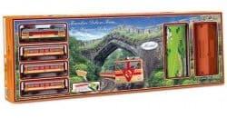 """Железная дорога """"Де Люкс поезд для путешествий"""" со станцией и туннелем"""