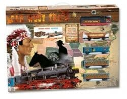 """Железная дорога """"Дикий Запад"""" с моделями и жителями города и светом"""