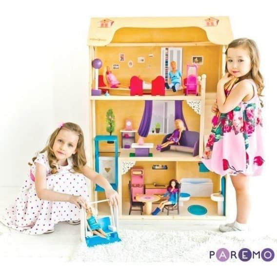 """Домик для Барби """"ГРАЦИЯ"""" (лифт, лестница, мебель)"""