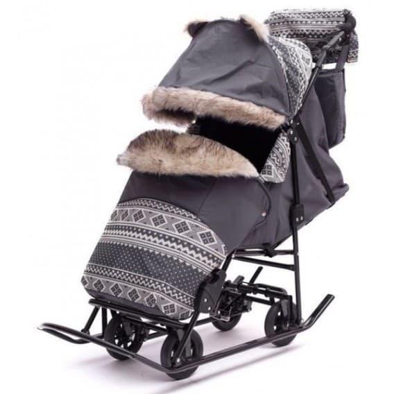 Санки-коляска Скандинавия 4УМ Софт Авто Люкс + ВК