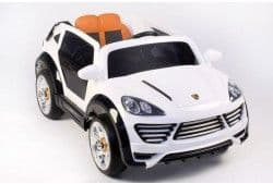 Электромобиль River Toys Porshe Cayenne Turbo О001ОО VIP с кожаным сиденьем