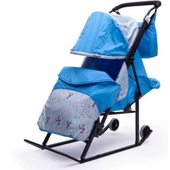 Санки - коляска Зимняя сказка 3В + ВК