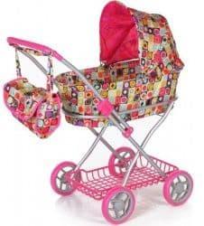 Высокая коляска для кукол с сумкой Melobo