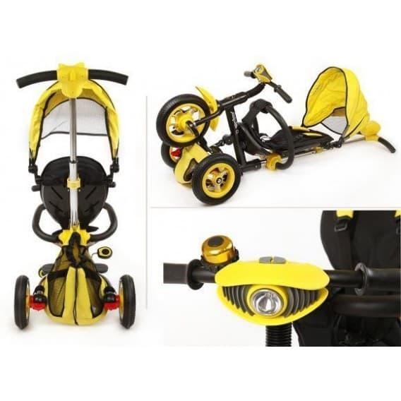 Складной велосипед Moby Kids Junior-2 желтый