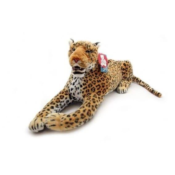 Мягкая игрушка Леопард с открытой пастью, 110 см