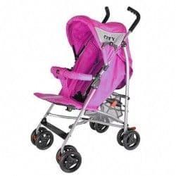 Прогулочная коляска City с лежачим положением розовая
