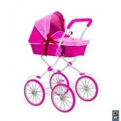 Кукольная коляска 85 см фуксия+розовый