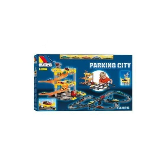 Игровой набор Molto Паркинг с треком и 5-ю машинками 3 уровня