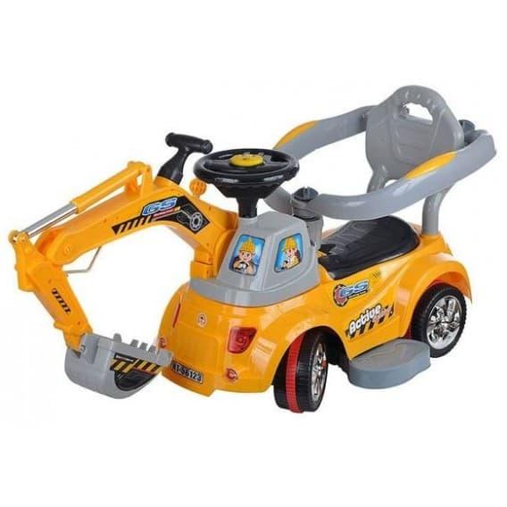 Каталка Электрическая Toysmax с пультом Экскаватор желтая