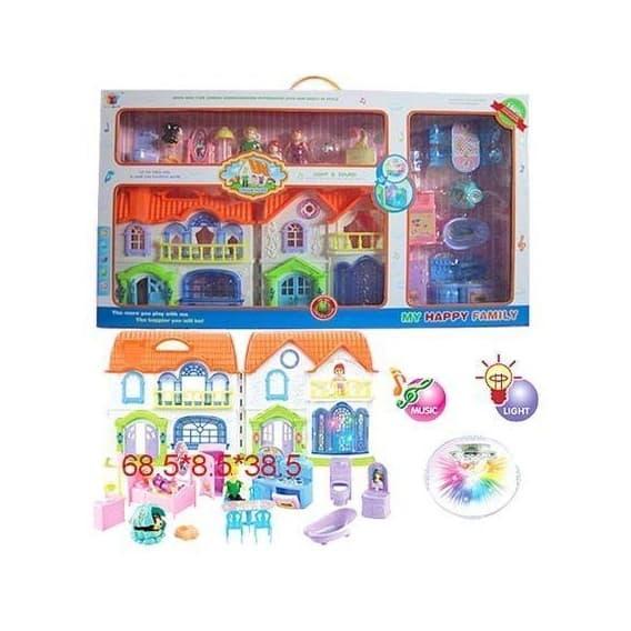 Дом Shantou Gepai кукольный с мебелью 8088
