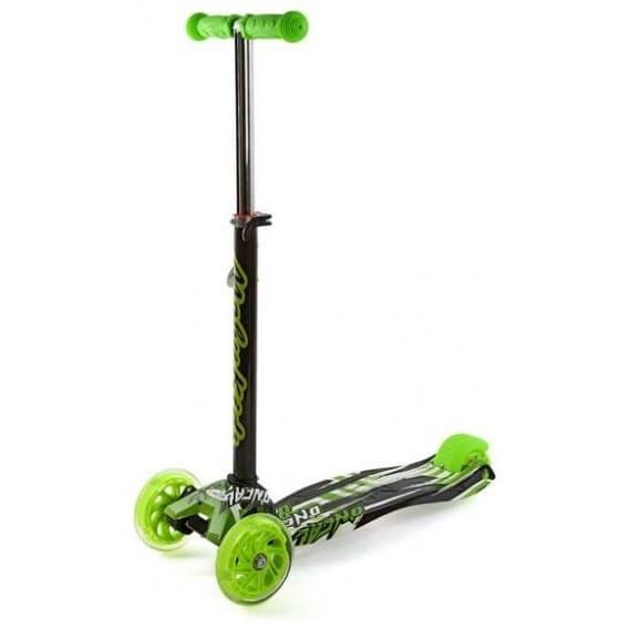 Самокат Moby kids с регулируемой рулевой стойкой зеленый