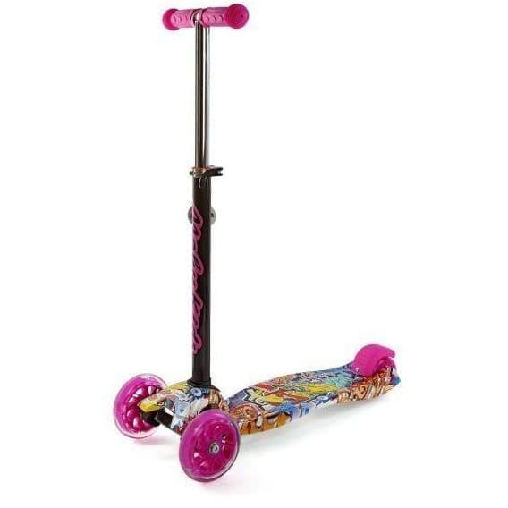 Самокат Moby kids с регулируемой рулевой стойкой розовый